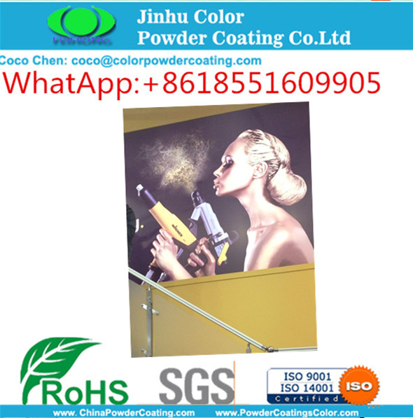 electrostatic spray epoxy polyester hybid powder coating paint