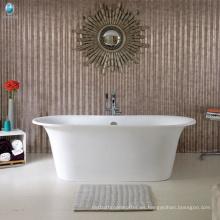 Baño diseño cupc piscina al aire libre de pie bañera de resina de piedra caliza de superficie sólida