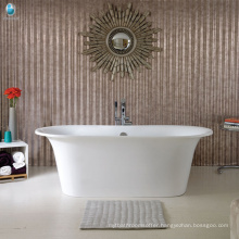 Bathroom design cupc outdoor swimming pool free standing solid surface limestone resin bathtub