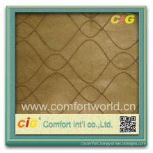 Fashion New Design Warp Knitting Faux Embroidery Suede Fabric