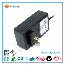 best selling hot chinese product power supply ac adaptor 24v 1.25a power adapter
