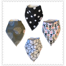 "Baby Bandana Drool Bibs for Drooling and Teething Cute 4 Pack Gift Set For Girls ""Grey Pink"""