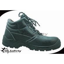 SRSAFETY 2015 chaussures de sécurité industrielles embossez des chaussures de sécurité en cuir de vache noir chaussures de sécurité en acier noir vente chaude