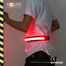 LED-Leuchtgurt, LED-Leuchtgurt, LED-reflektierender Gürtel mit CE-En13356
