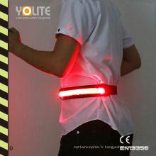 Ceinture lumineuse LED, ceinture lumineuse LED, ceinture réfléchissante LED avec CE En13356