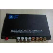 Vídeo de 4 Canais + Audio de 4 Canais Multiserviço Optical Converter / Transceiver