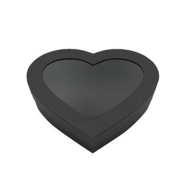 Cardboard Heart Shape Gift Box with Clear Window