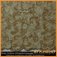 Tiras de ouro Bordado Lace Fabric Use Home Moda e vestido de noiva Lace No.CA406