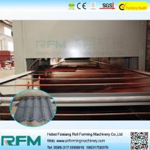 Chinesische Stein beschichtete Stahldachziegel Rollenformmaschine