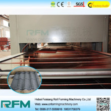 Chinese stone coated steel roof tile roll forming machine