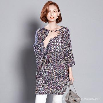 Pull creux tricoté par Polyester acrylique coloré de Madame Fashion (YKY2057)