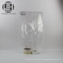 Self taille personnalisée sceller les sacs plats transparents