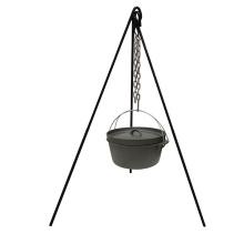 Trípode de horno holandés de hierro fundido de servicio pesado para cocinar al aire libre para acampar