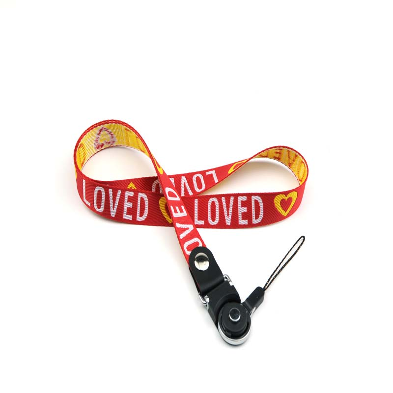 Promotional lanyards with logo pattern for keys
