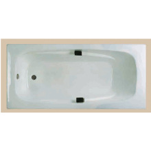 Fancy Design White Color Enamel Cast Iron Bathtub