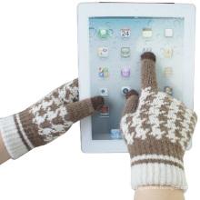 Леди мода шерсть трикотажные Сенсорный экран зимние перчатки Магия (YKY5454)