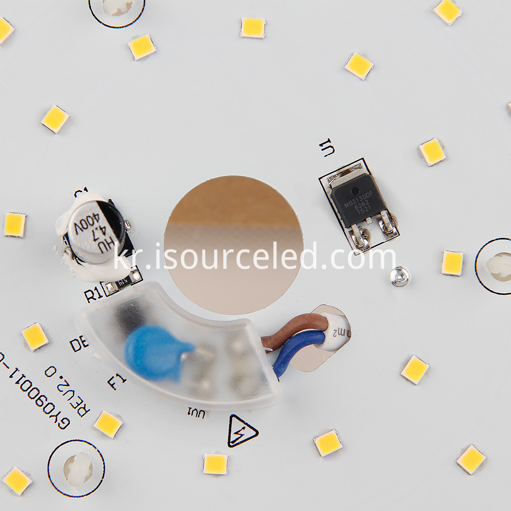 Warm white 9W side of the smd 2835 9W AC LED Module
