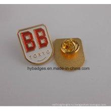 Сияет Мягкая эмаль Золотой значок, использование участником компании (GZHY-ка-009)