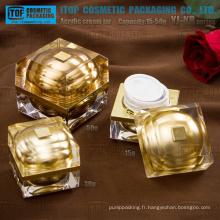 L'arrivée de nouveaux 2014 série YJ-KR 15g 30g 50g beau cristal carré pots acrylique de haute qualité