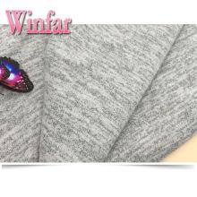 Gebürsteter Rayon Polyester Spandex Sweater Strickstoff Hacci