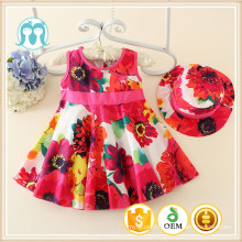 Fashion Flower Pattern Girl Dresses Baby Girl One Piece Girl Party Dress Infant Clothing