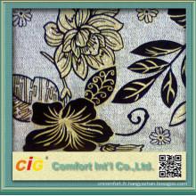 Tissu de sofa de flocage de timbre de conception de mode