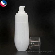 Уникальная форма earled белая косметическая пластичная бутылка для ухода за кожей крем упаковка