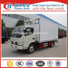 4x2 DFAC 3 Toneladas van camião frigorífico para carne e peixe