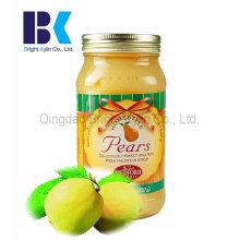 Las botellas de vidrio más populares de conservas de peras