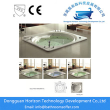 factory customized for Special Design Harmless Bathtub whirlpool massage shower bathrooms tubs export to Russian Federation Exporter