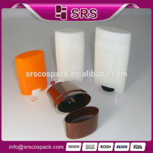 SRS stick deodorant 15g 50g 75g empty round pet products for skincare and PP gel stick tube container filling plastic bottle