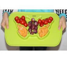 Non-toxic silicone baby placemat plate silicone FDA baby dish plate
