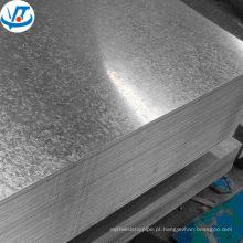 chapa de aço galvanizada eletro da telhadura / placa preço de fábrica