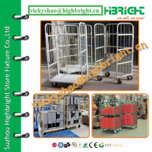 plastic sprayed two sides rolling cage trolley