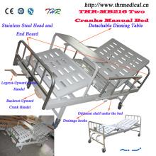 2-manivela manual cama médica (THR-MB216)