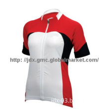 Ladies cycling wear with short sleeve