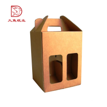 Hecho en China nueva caja cuadrada del cartón de la botella de vino de la comida del vintage