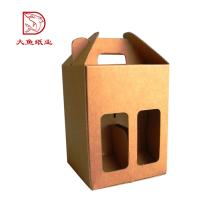 Made in China nova praça comida vintage garrafa de vinho caixa de papelão