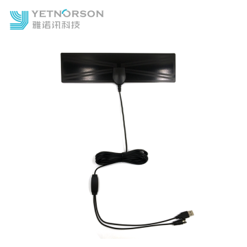 Flat Clear Amplifier HDTV Digital Antenna With Signal Booster
