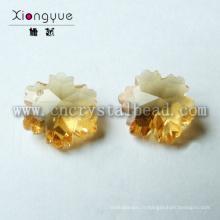 Flocon de neige lâche forme en cristal perle
