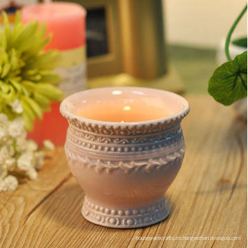 Candelero votivo de cerámica de la vendimia