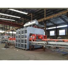 Ligne de presse à stratifié automatique à court terme pour le travail du bois
