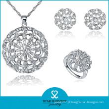 Promocionais lisa jóias de prata conjunto com preço barato (j-0059)