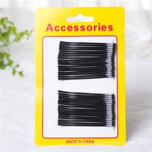 Lady Fashion Card verpackt schwarz Metall Haarschmuck (JE1042)