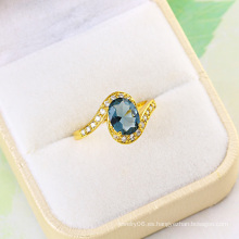 Joyería de moda cz anillo de bodas de oro