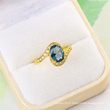 Bijouterie à la mode CZ Gold Wedding Ring