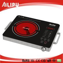 Hecho en caja de acero inoxidable de China con manija cocina infrarroja eléctrica