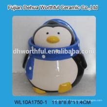 2016 nouveau style pot en assiette en céramique en forme de pingouin