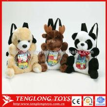 Lovely animales juguetes visibles bolsa de espalda para los niños