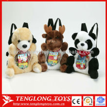 Jolie jouets pour animaux sac à dos en peluche visible pour les enfants